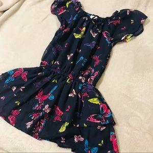 Girls Butterfly 🦋 Blue Dress 5-6